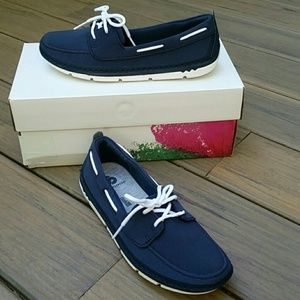 Clarks Step Maro Navy Boat Shoes